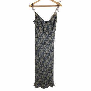 J. Crew Vintage 100% Silk Floral Tie Midi Dress 6